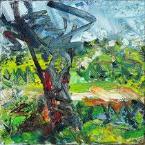 Dünenbaum, Öl/Lw 60 x 60 cm, 2019
