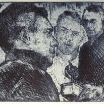 """Porträt Neo R."", Radierung, Aquatinta, ca 20,5 x 24,5 cm"