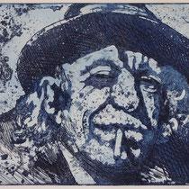 """Keith blue"", Radierung, Aquatinta, ca 20 x 25 cm"