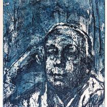 """Käthe Kollwitz"", Radierung, Aquatinta, ca 24,5 x 20,5 cm (Variante)"