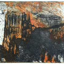 """Kathedrale"", Radierung, Aquatinta, (2Platten), ca 20 x 30 cm"