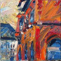 """Haus in G."", Öl/Lw 60 x 60 cm, 2019"