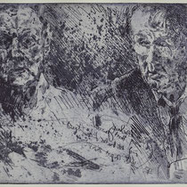 """Dialog"", Radierung, ca 20 x 25 cm"