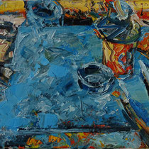Palette, Öl/Lw 50 x 70 cm, 2018