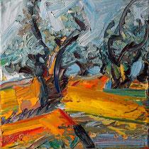 Olivenhain II , Öl/Lw 60 x 60 cm, 2020