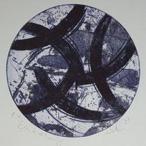 """Einkreisung"", Radierung, Aquatinta, Kaltnadel, ca 23,5 x 23,5 cm"