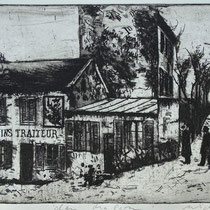 """""""den Malern"""", Radierung, Aquatinta, ca 20 x 24,5 cm"""