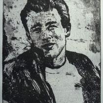 """""""James D."""", Radierung, Aquatinta, ca 25 x 20 cm"""