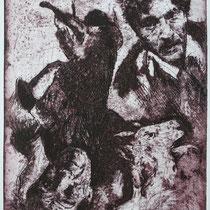 """Marc Chagall"", Radierung, Aquatinta, ca 24,5 x 20,5 cm"