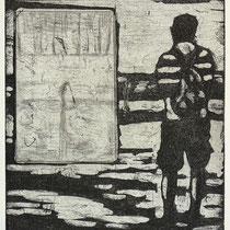Radierung, Aquatinta, Kaltnadel, ca 19,5 x 15 cm
