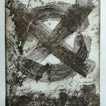 Radierung, Ätzung, Réservage, Aquatinta, Prägedruck, ca 33 x 25 cm