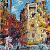 never been to Venice I , Öl/Lw 60 x 60 cm, 2019