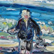 M. vor Meer, Öl/Lw 50 x 60 cm, 2019