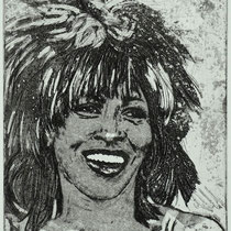 """""""Tina T."""",  Radierung, (Varianten, Kaltnadel, Aquatinta) ca 25 x 20 cm"""