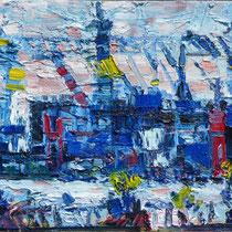 Hamburg Hafen, Öl/Lw  40 x 50cm