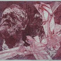"""Joe C., blue"", Radierung, Aquatinta, ca 20,5 x 24,5 cm (Variante)"