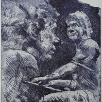"""Chick Corea"", Radierung, Aquatinta, ca 24,5 x 23,5 cm"