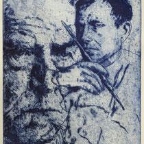 """""""O. Dix"""", Radierung, Aquatinta, ca 24,5 x 20,5 cm"""