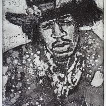 """Jimmy H."" Radierung, Aquatinta, Kaltnadel, ca 28 x 22 cm"