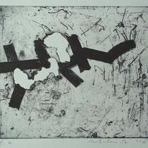 Radierung,  Ätzung, Kaltnadel, ca 30 x 35 cm