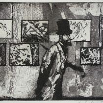"""""""nach Degas"""", Radierung, Aquatinta, ca 20 x 24,5 cm"""