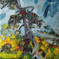 """""""Die Bremm"""", Öl/Lw 60 x 60 cm, 2021"""