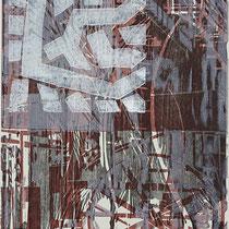 Farb-Holzschnitt, verschiedenartig kombiniert (verlorene Platte) ca 58,5 x 30 cm