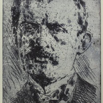 """Edvard M."", Radierung, Aquatinta, ca 24,5 x 20,5 cm"