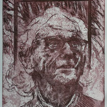 """Christo J."", Radierung, Aquatinta, ca 30 x 24,5 cm"