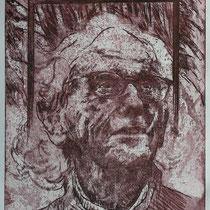 """Christo J."", Radierung, Aquatinta, ca 30 x 24,5 cm"