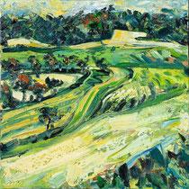 """""""Panoramaweg"""", Öl/Lw 100 x 100 cm, 2020"""