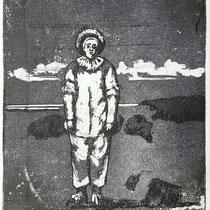"""nach Watteau"", Radierung, Aquatinta, ca 19 x 14 cm"