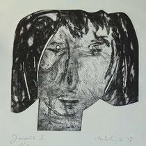 """""""Janus II"""", Radierung, Ätzung, Kaltnadel, Flex, ca 30 x 30 cm"""