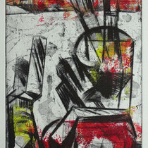 """Gläsern"", Radierung, Aquatinta, Hochdruck, ca 33 x 25 cm"