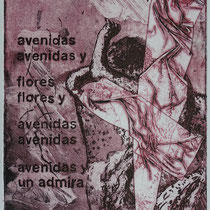 """avenidas"", Radierung, Aquatinta, ca 29,5 x 19,5 cm"