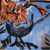 Julistern, Farbholzschnitt, 25 x 25 cm