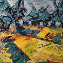 Olivenhain I , Öl/Lw 60 x 60 cm, 2020