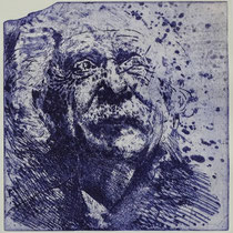 """Albert E."", Radierung, Aquatinta, ca 24,5 x 23,5 cm"