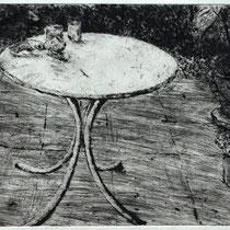 """""""Tisch"""" - Kaltnadelradierung"""