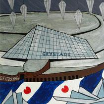 LEEUWARDEN uit de serie FRIESE ELFSTEDEN - acrylverf op doek - 50 x 50 - verkoopprijs € 300