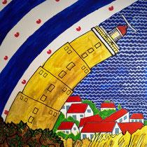 TERSCHELLING uit de serie Friese eilanden - acrylverf op doek - 30 x 30 - verkoopprijs € 150
