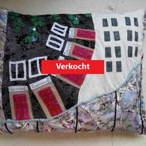 handgemaakt kussen Berlijn - 60x70 - verkoopprijs € 170