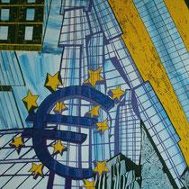 FRANKFURT uit de serie Stadssonnetten - acrylverf op doek -  90 x 120  - houten baklijst - verkoopprijs € 1195