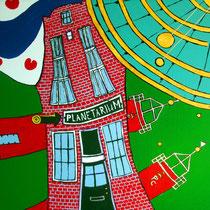 FRANEKER uit de serie FRIESE ELFSTEDEN - acrylverf op doek - 50 x 50 - verkoopprijs € 300