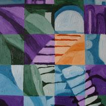 ZWITSERLAND uit de serie REISSCHILDERINGEN - olieverf op doek - 50 x 40 - houten baklijst -verkoopprijs € 210