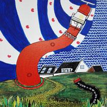 SCHIERMONNIKOOG uit de serie Friese eilanden - acrylverf op doek - 30 x 30 - verkoopprijs € 150