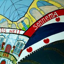 BOLSWARD uit de serie FRIESE ELFSTEDEN - acrylverf op doek - 50 x 50 - verkoopprijs € 300