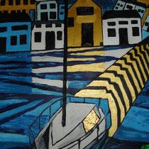 GUERNSEY uit de serie REISSCHILDERINGEN - olieverf op doek - 50 x 40 - verkoopprijs € 210