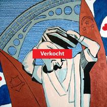 DOKKUM uit de serie FRIESE ELFSTEDEN - acrylverf op doek - 50 x 50 - verkoopprijs € 300