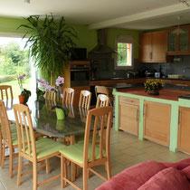 la cuisine - table d'hotes aux Gites des Camparros à Nailloux